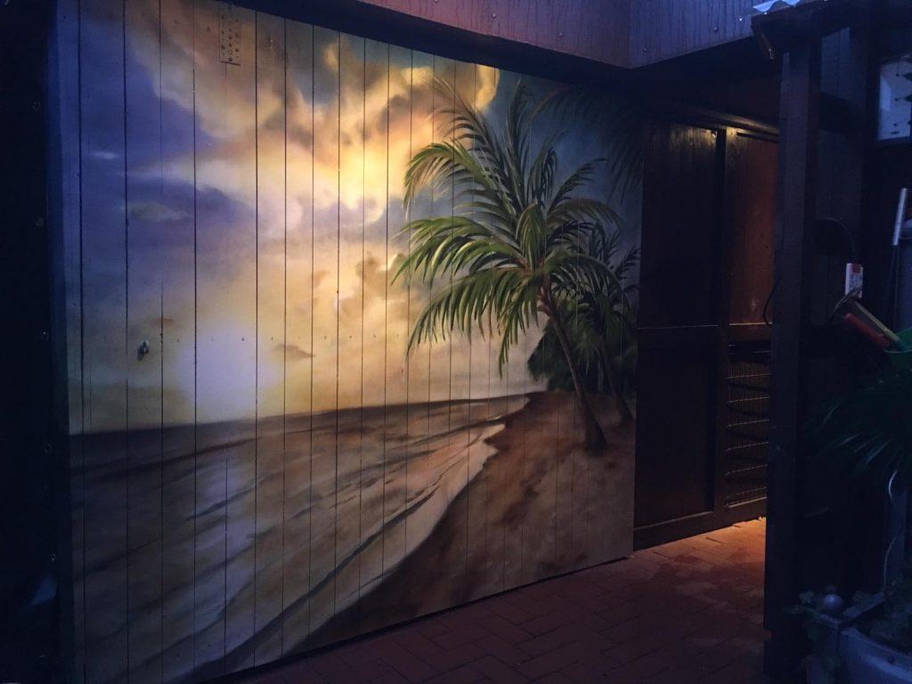 Strand an der Wand